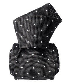 Grenadine Garza Fina Tie - Grey - White Dots