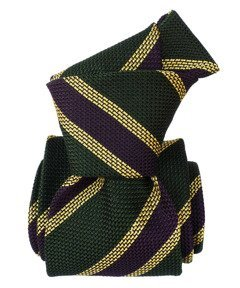 Grenadine Garza Fina Tie - Regimental Green
