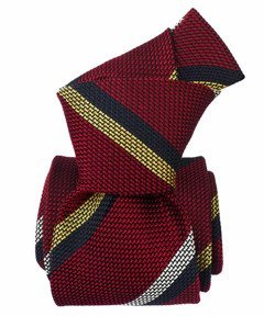 Grenadine Garza Fina Tie - Regimental Red