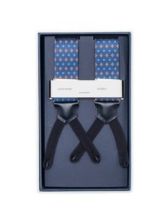 Men's Suspenders - Blue Diamonds