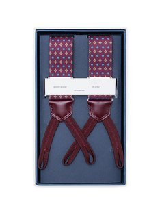 Men's Suspenders - Burgundy Diamonds