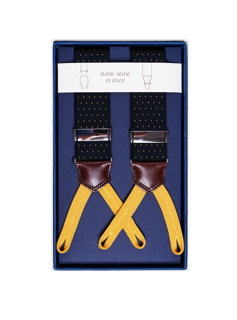 Men's Suspenders - Yellow Dots