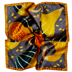 Pumpkin Silk Pocket Square - Orange