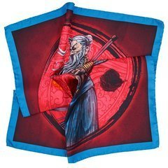 Samurai Silk Pocket Square - Shades of Red