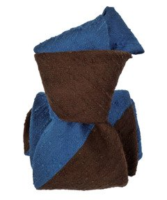 Shantung Tie - Regimental Blue&Brown