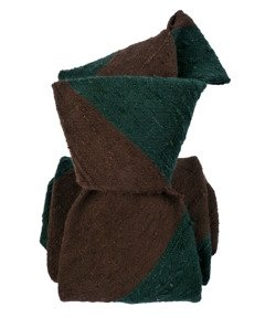 Shantung Tie - Regimental Brown&Bottle Green