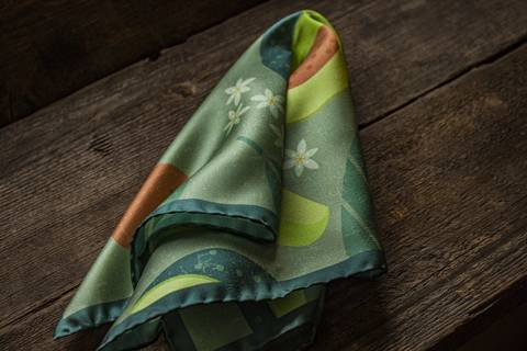 Avocado Silk Pocket Square - Green