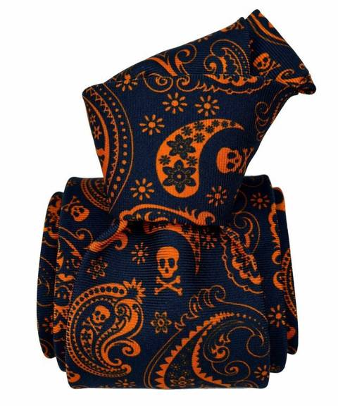 Printed Silk Tie -  Jolly Rogers