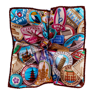 Globetrotter Silk Pocket Square - Multicolour