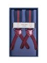 Men's Suspenders - Navy Stripes