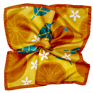 Orange Silk Pocket Square - Orange