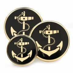 Enamel Anchor Black